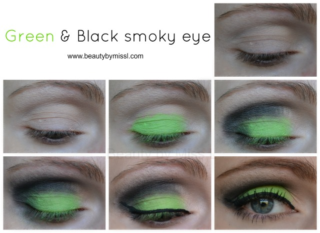 Green black smoky eye tutorial