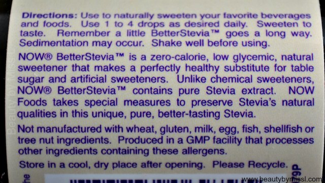 Now Foods Better Stevia Liquid Sweetener French Vanilla