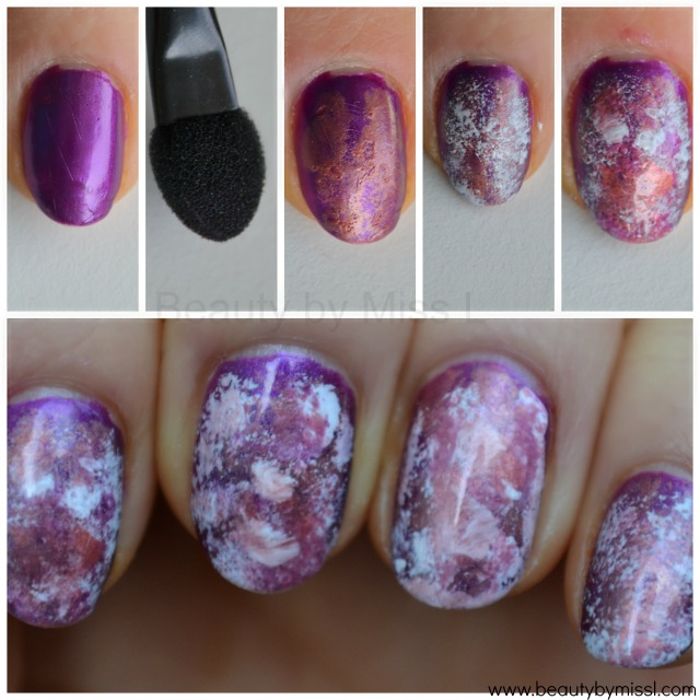 sponging nail art tutorial