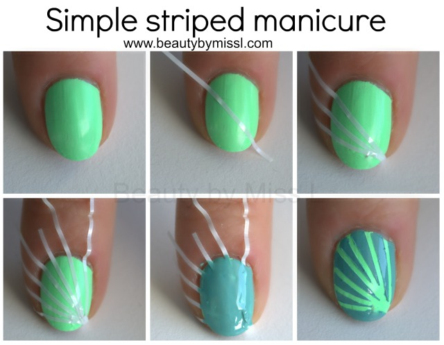 simple striped manicure tutorial