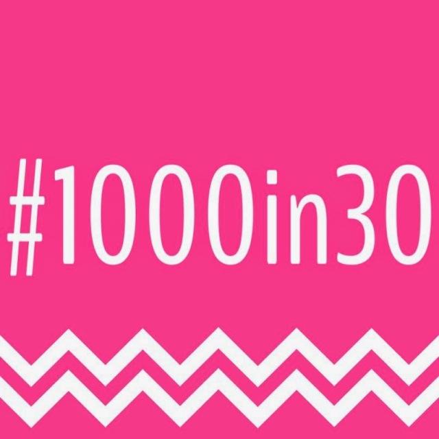 #1000in30