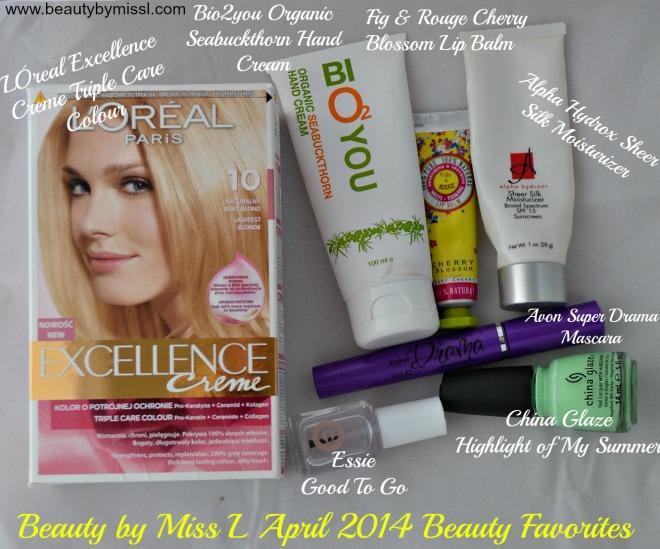 April 2014 beauty favorites