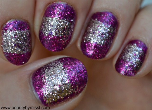 glitter party nails