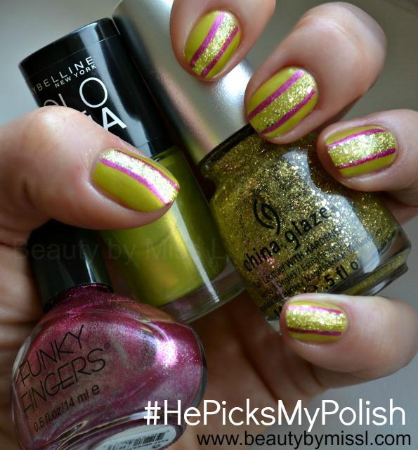 nail polishes used for HePicksMyPolish manicure