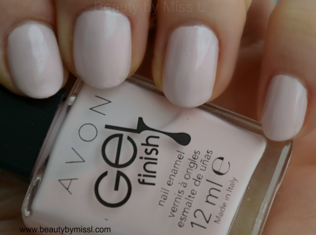 avon gel finish nail enamel sheer love