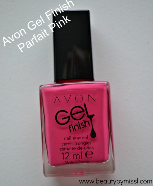 Avon Gel Finish nail polish Parfait Pink