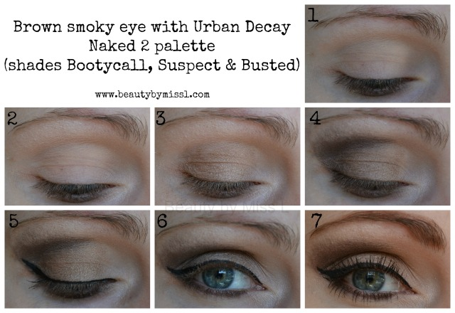 Brown smoky eye with Urban Decay Naked2 palette