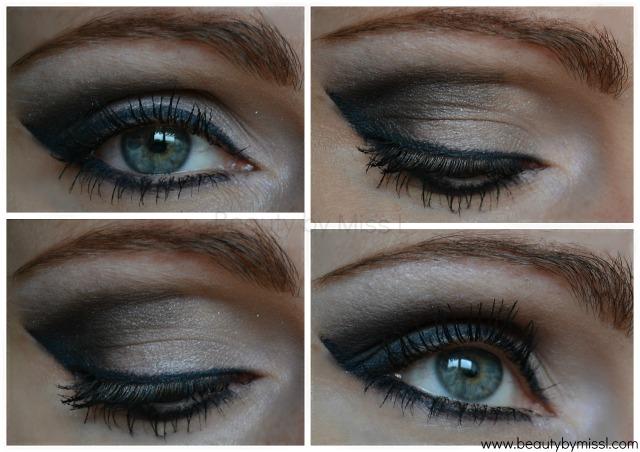 grey black smoky eye