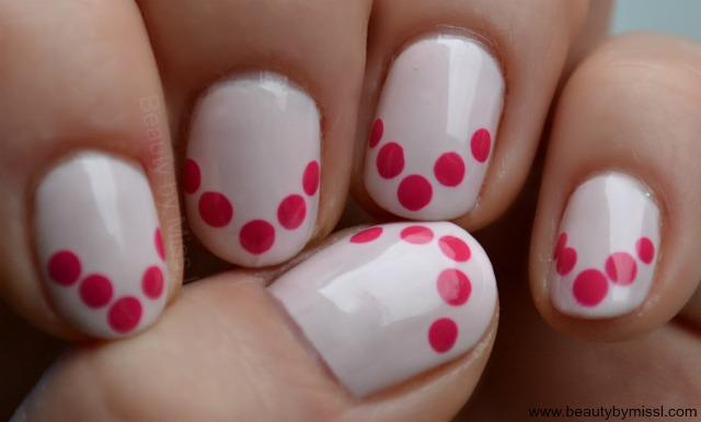 simple dotticure for short nails