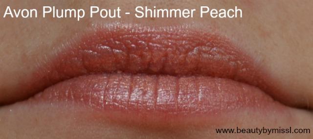 Avon Plump Pout lipstick Shimmer Peach