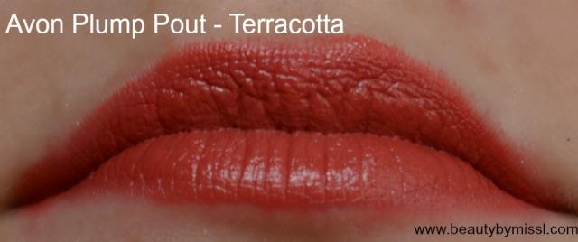 Avon Plump Pout lipstick Terracotta