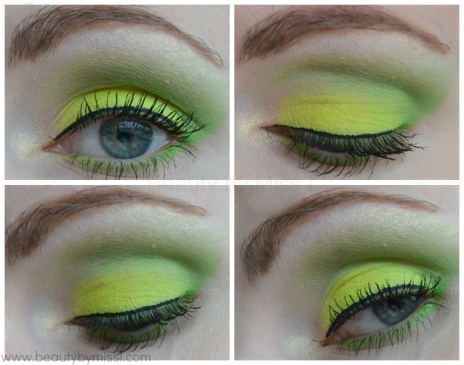 green & yellow eye makeup