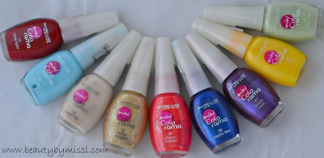 maybelline mini colorama nail polishes