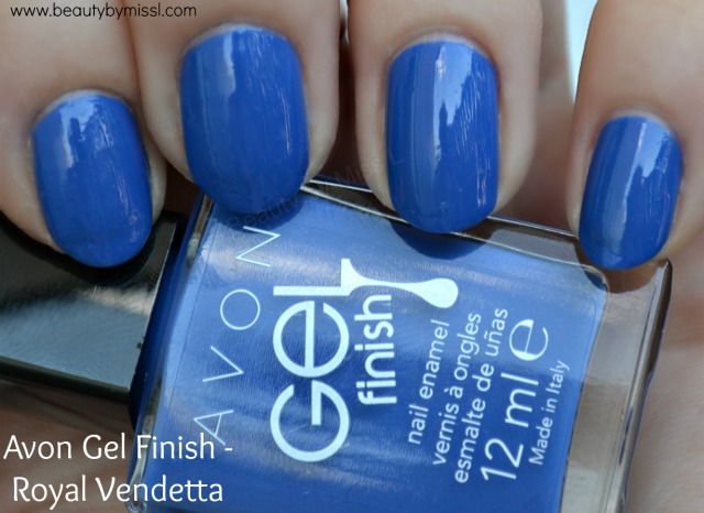 Avon Gel Finish nail polish in Royal Vendetta swatches