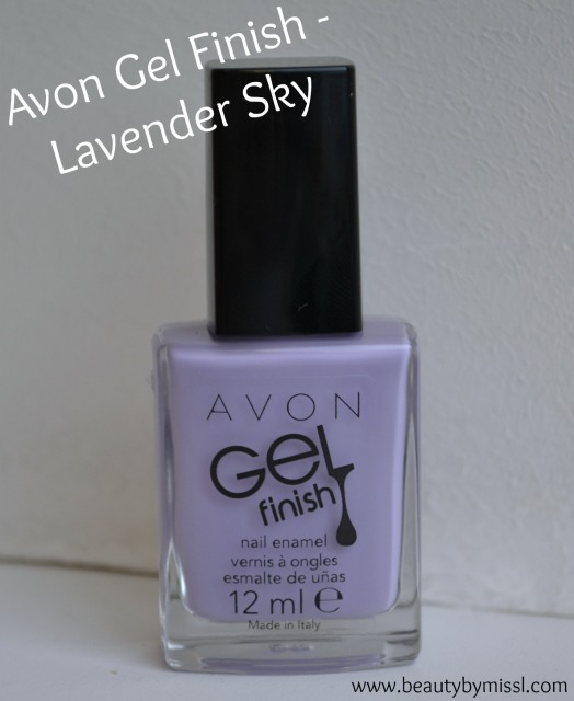 Avon Gel Finish nail polish in Lavender Sky
