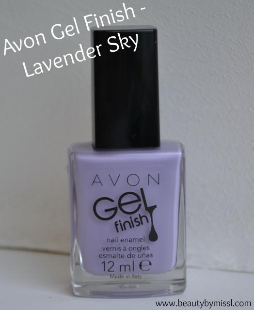 Avon Gel Finish nail polish in Lavender Sky