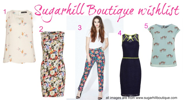 Sugarhill Boutique wishlist