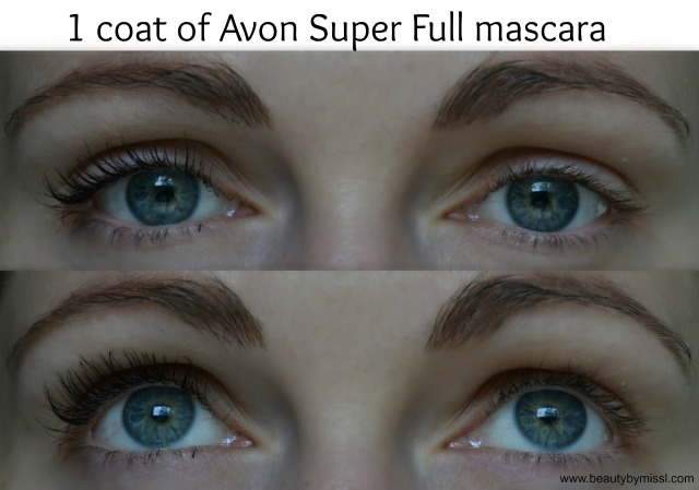1 coat of Avon Super Full mascara
