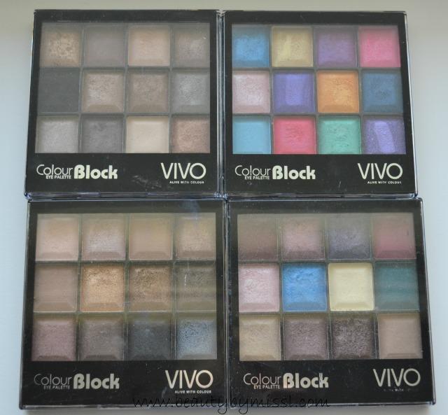 Vivo Cosmetics eyeshadow palettes