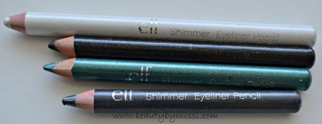 e.l.f. Shimmering Eye pencils