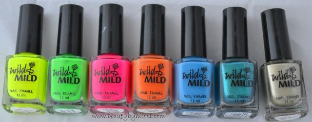 wild & mild nail polishes
