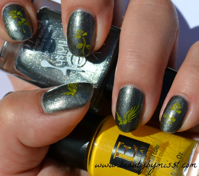 birds and roses stamping