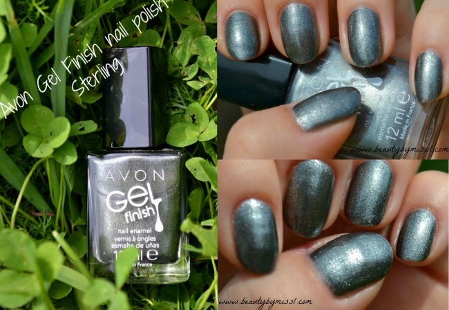 Avon Gel Finish nail polish in Sterling swatches review