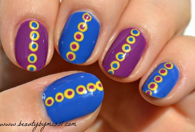 blue purple yellow dotticure