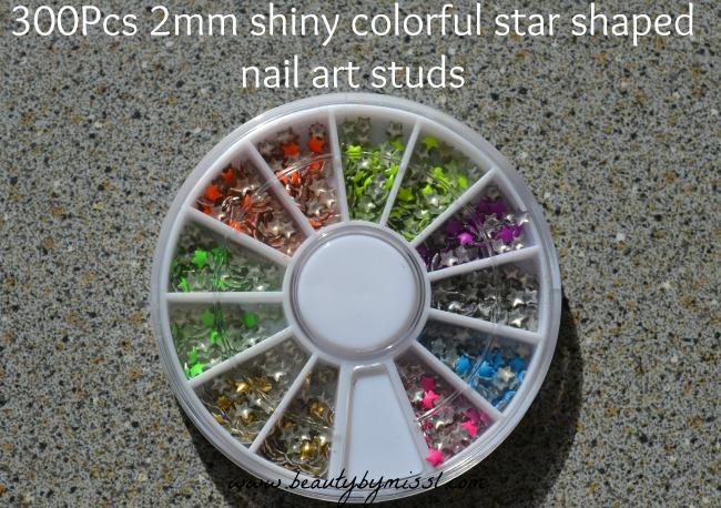 star shaped nail art studs