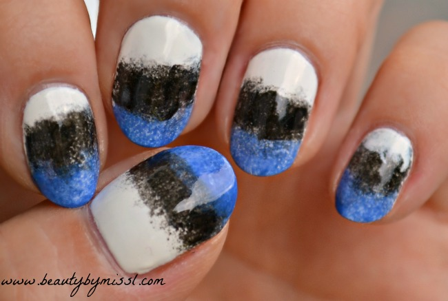 Estonian flag inspired nails