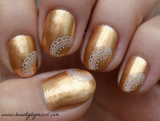 gold and white lace