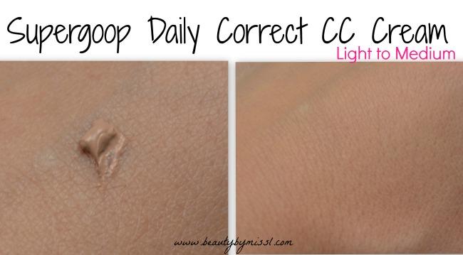 Supergoop Daily Correct CC Cream light to medium