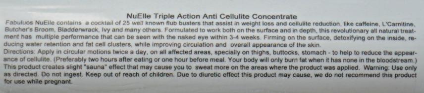 NuElle Triple Action Anti Cellulite Concentrate