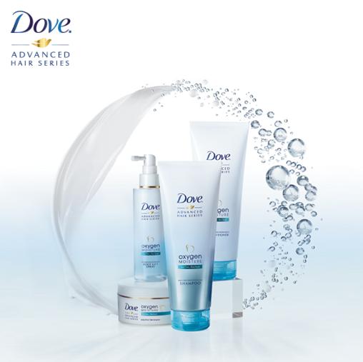 Dove Oxygen & Moisture juuksehooldus sari