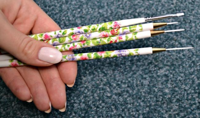 4pc Nail Art Brush Set