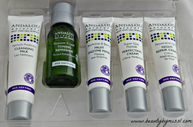 Andalou Naturals Age Defying Skin Care Essentials 5 Piece Kit