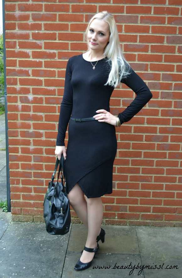 Ootd Black Asos Bodycon Dress Beauty By Miss L
