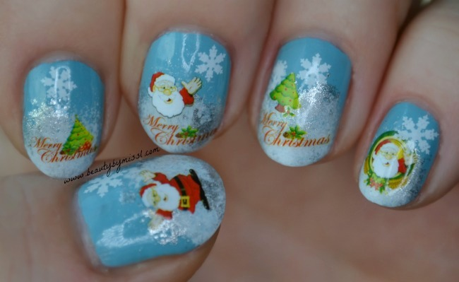Merry Christmas nails
