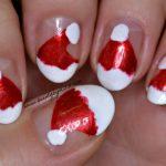 Simple Christmas themed nail art