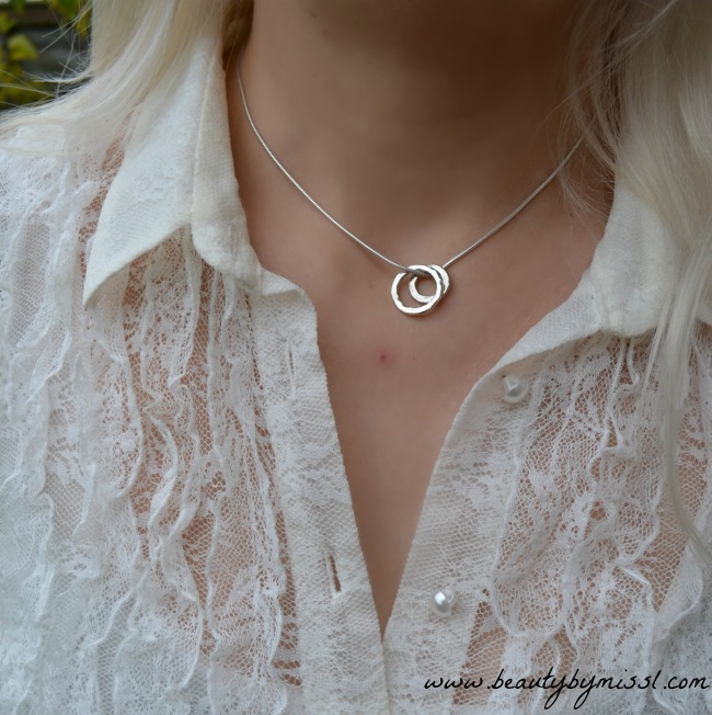 Vanilla Links Double Link Silver Pendant from Nude Jewellery
