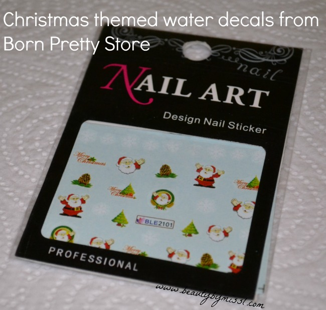 Merry Christmas water decals