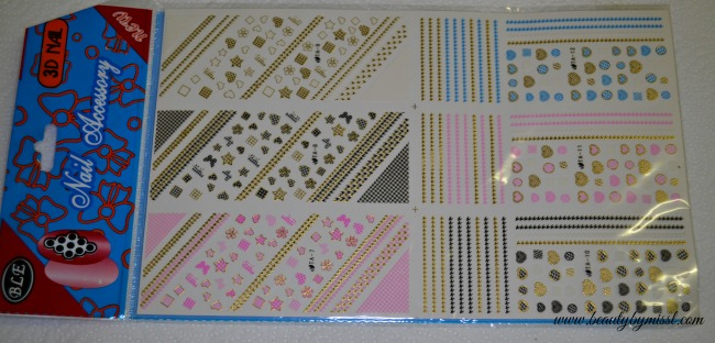 3d nail art stickers from Born Pretty Store