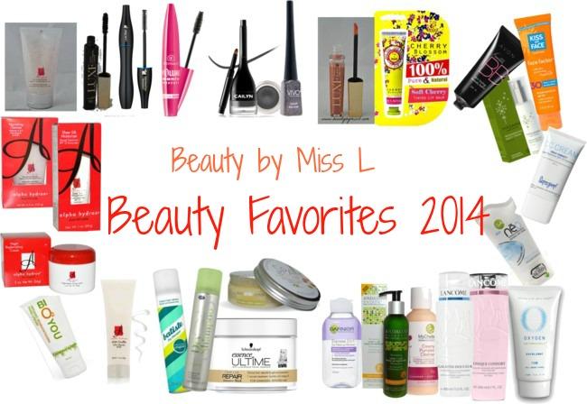 Beauty favorites 2014