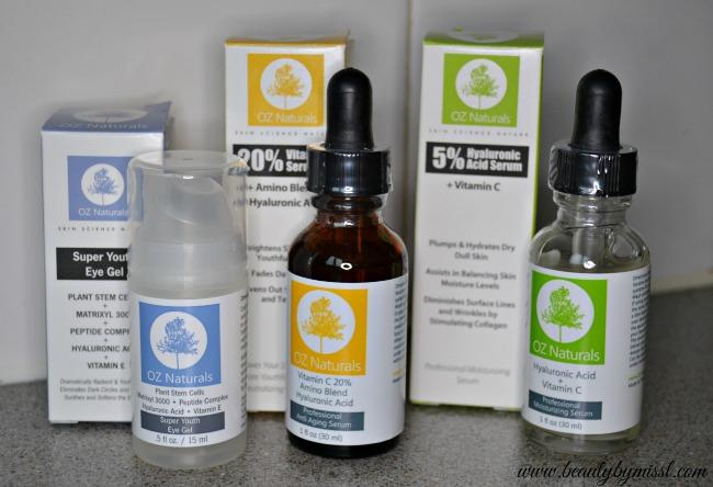 OZ Naturals products
