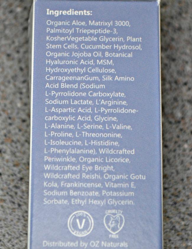 Super Youth Eye Gel ingredients
