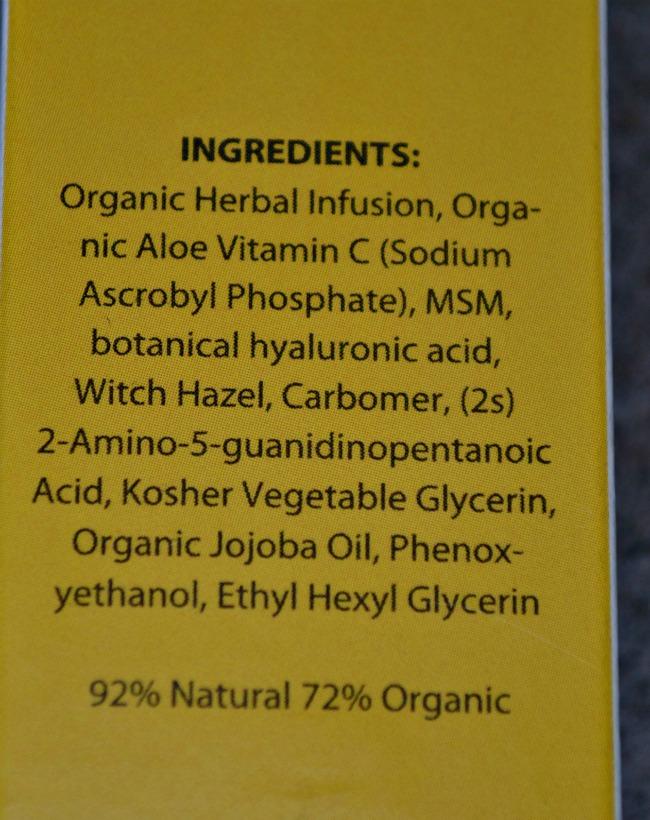 Professional Anti Ageing Serum ingredients