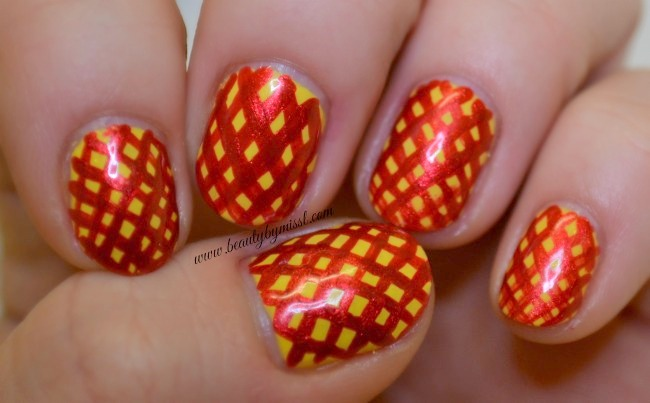 red yellow nails
