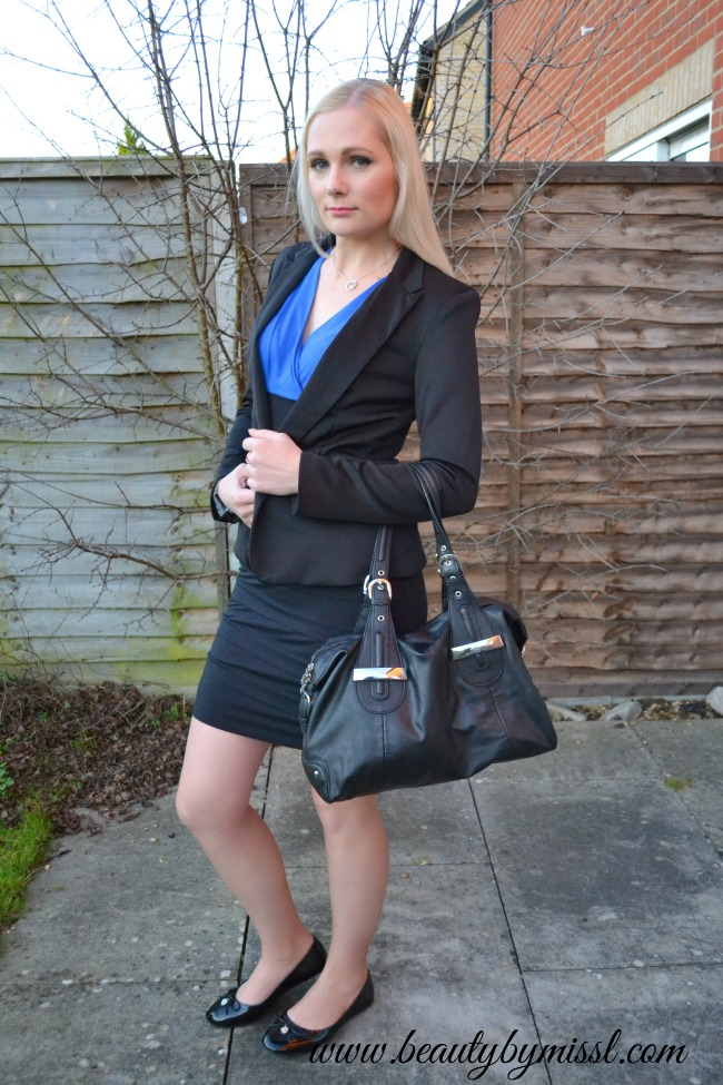bodycon dress and ballet flats