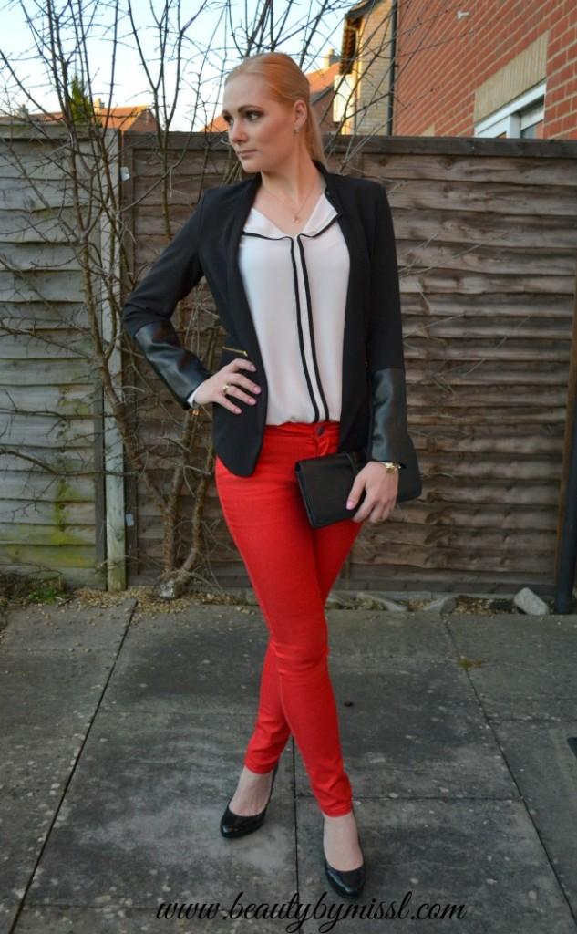 OOTD: Red, black & white