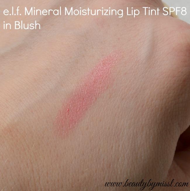 e.l.f. Mineral Moisturizing Lip Tint SPF8 Blush swatch